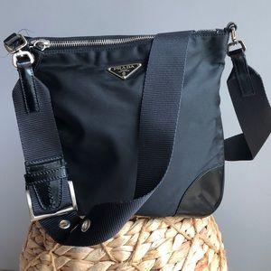 Authentic Vintage Prada vint nylon crossbody purse